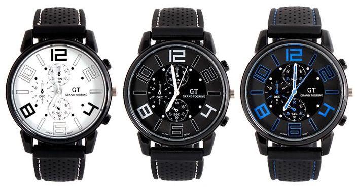 GT Reloj Deportivo Hombres Reloj Militar De Cuarzo Japon Movt Venda De Silicona Redonda