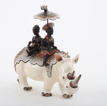 Ardmore Ceramics Rhino Rider AAA