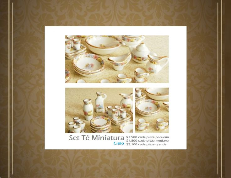 Set Miniaturas Tea Cup Cielo. Tienda MyFavorite_4d, only beautiful things www.facebook.com/myfavorite4d