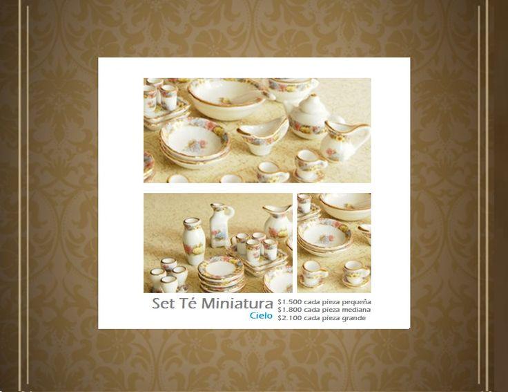 Set Miniaturas Tea Cup Cielo. Tienda MyFavorite_4d, only beautiful things www.facebook.com/myfavorite4d