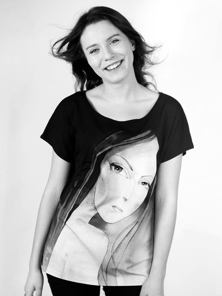 JULIA | Szept M www.szeptm.pl #watercolor #blouse #face #portrait #woman #clotches