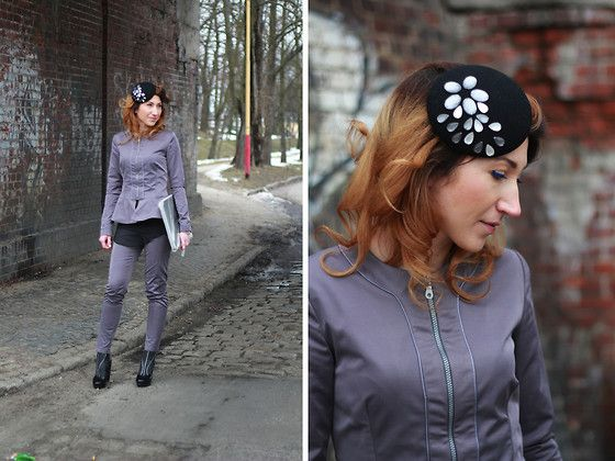 Nina Dunin Peplum Jacket, Nina Dunin Pants, Nina Dunin Fascinator