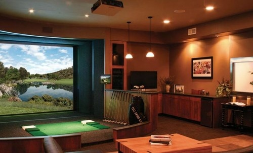 golf simulators design pictures remodel decor and ideas