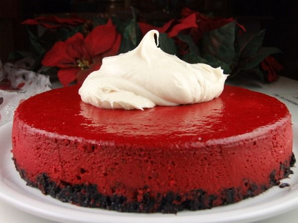 red velvet cheesecake -- trying this as soon as it is cool
