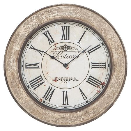 Home Decor Clocks Wall Clock With Distressed Wood