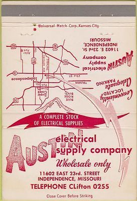 Matchbook Cover - Austin Electrical Supply Independence MO 40 Strike