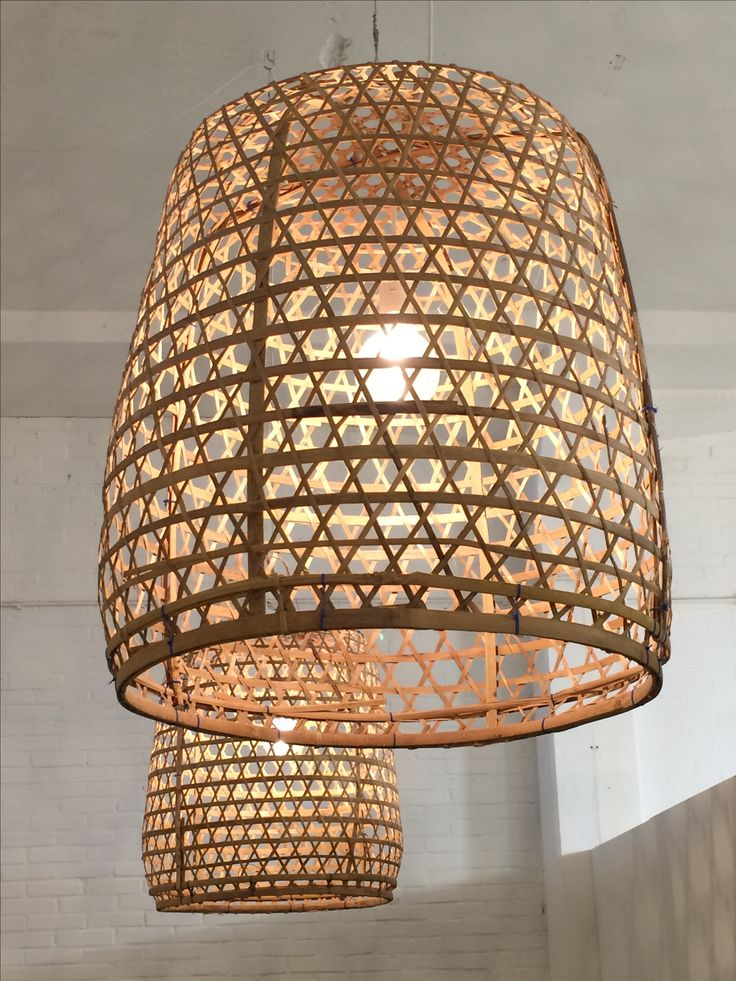 ook manden zijn een perfecte basis voor een eigengemaakte lamp. foto: loods 5