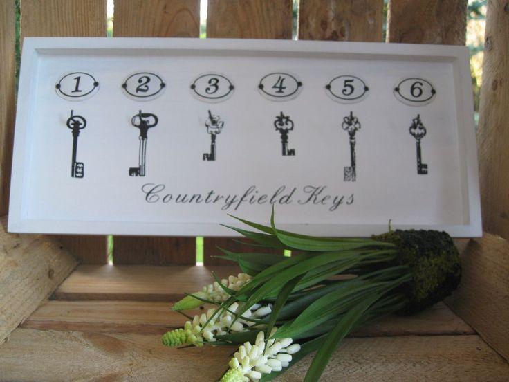 Shabby Schlüsselbrett  Countryfield Keys  Schlüsselboard Schlüsselkasten Vintage