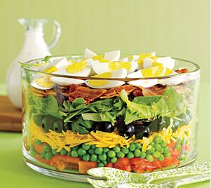 Yum! Paleo 7-Layer Salad.   How cool does that look?!
