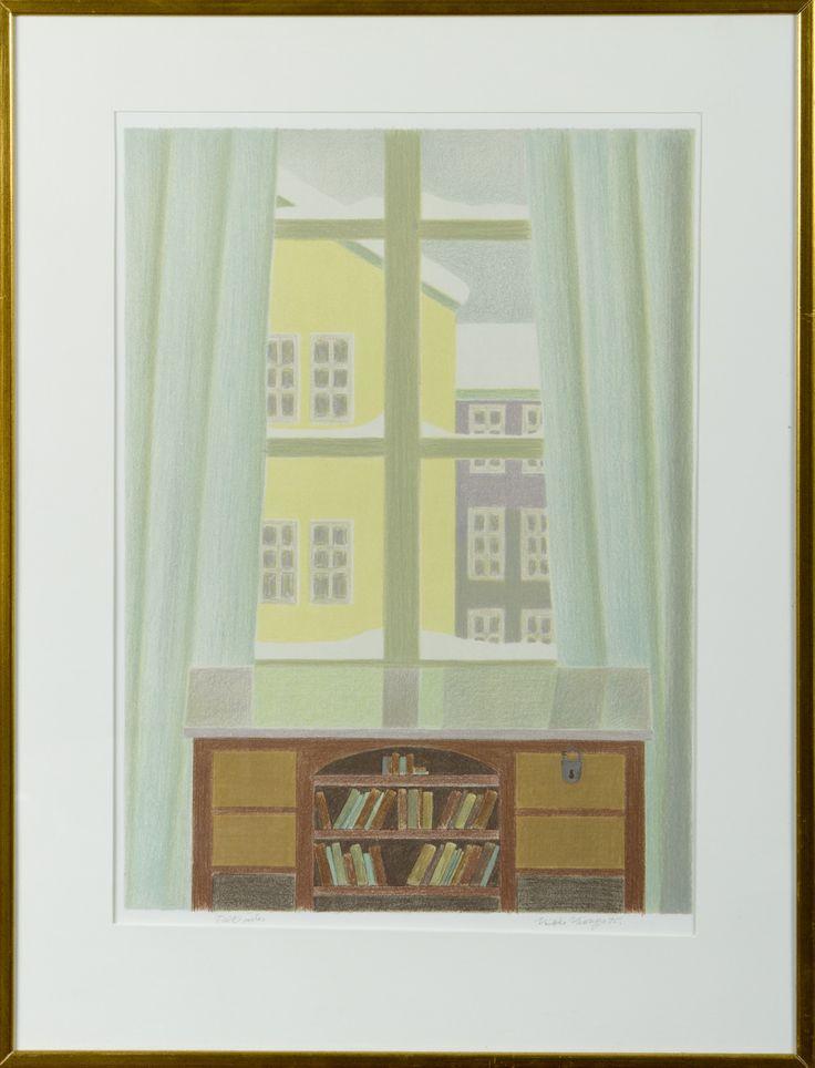 Veikko Vionoja, 1995, litografia, taiteilijavedos - Hagelstam A131