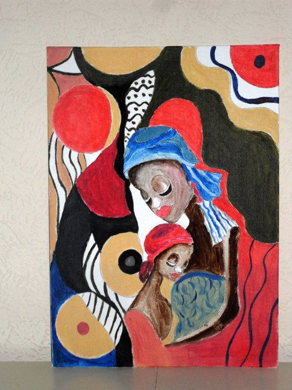 PRINT ORIGINAL PAINTING Mother Child African by darinecraftyshop, £15.00