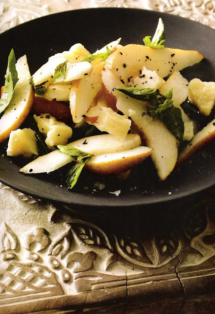 ~linen & lavender: Pear, Basil and Pecorino Toscano Salad