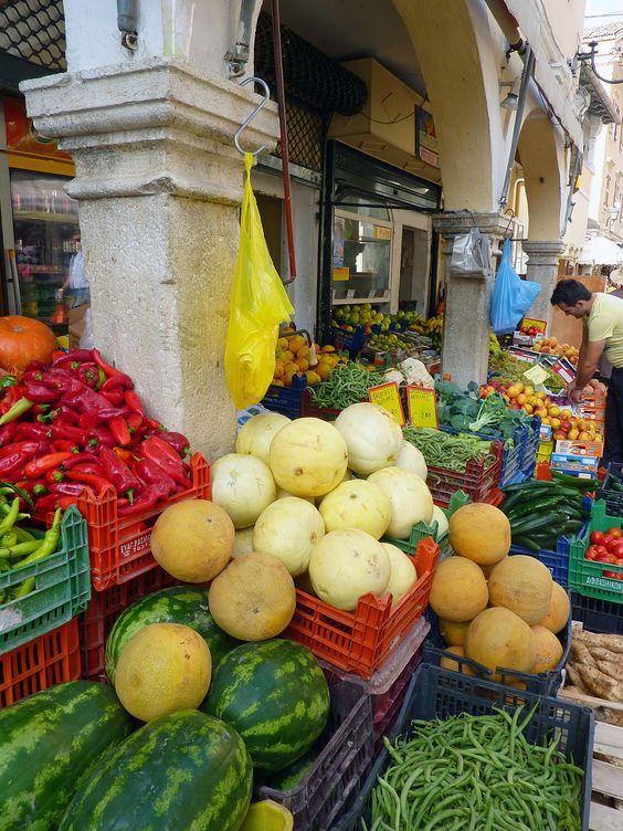 Corfu, Greece Market