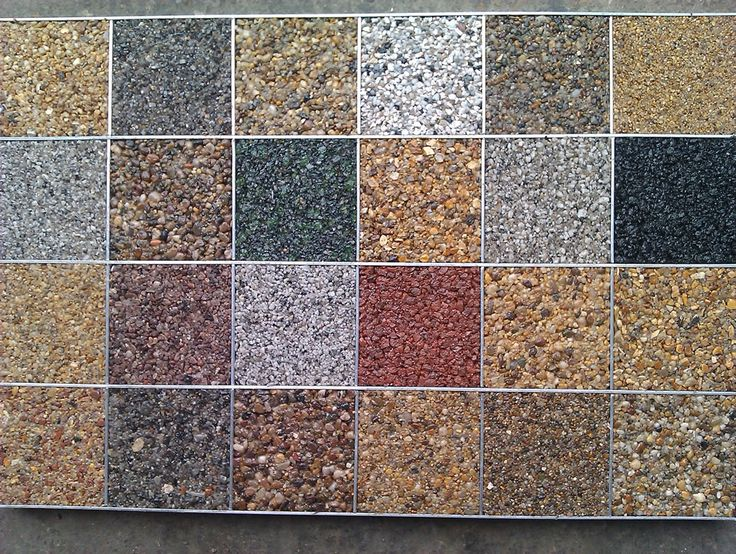Peagravel Patio Eposy Bonded Aggregate Paving Colours