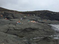 Pads are recommended if you want to lay on the lava rocks of the Balata dei Turchi
