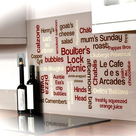 Typographic splashback from More than Words | Splashbacks | Kitchen | PHOTO GALLERY | Ideal Home | Housetohome.co.uk