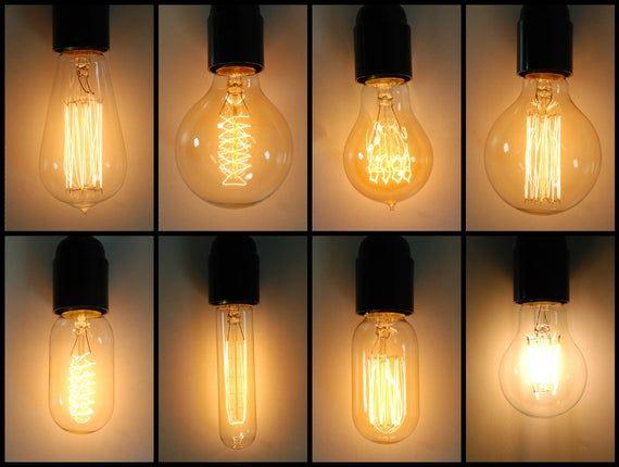 Vintage Stile Industriale Filamento Edison Lampadina E27 Es Etsy Edison Light Bulbs Vintage Light Bulbs Vintage Industrial Style