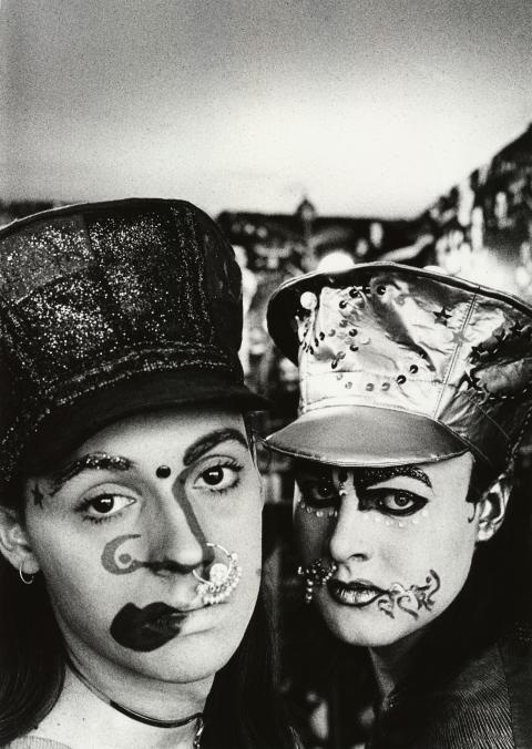 Leigh Bowery (right)