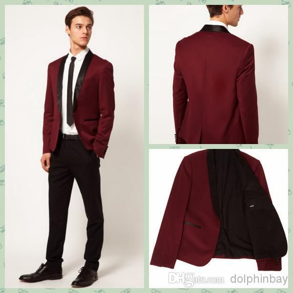 Cheap jacket skirt suit, Buy Quality suit jackets for men directly from China jacket oil Suppliers: 2015 Hot Brand Groom Tuxedo Wine Red Shawl Lapel Groomsmen Best Men Wedding Suits Prom/Formal/Bridegroom Suit (Jacket+Pa