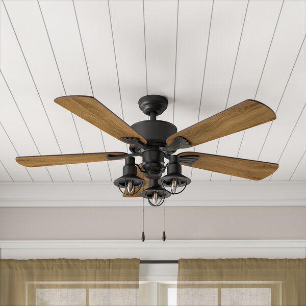52 Ratcliffe 5 Blade Led Ceiling Fan Light Kit Included Ceiling Fan Ceiling Fan With Remote Fan Light Kits