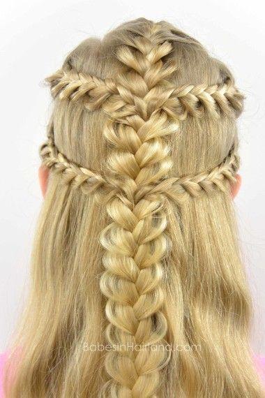 Viking Braids from BabesInHairland.com #braids #frenchbraids #hairstyle…                                                                                                                                                                                 More