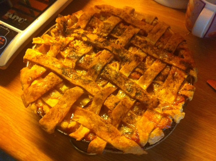 Apple pie with lattice top! First attempt :)