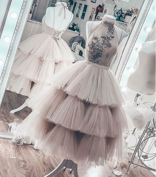 Cute Tulle Lace Short Prom Dress Homecoming Dress From Dress Idea Cute Dress Hairstyle Hairstyles Homecomin Tulle Evening Dress Short Prom Dress Dresses