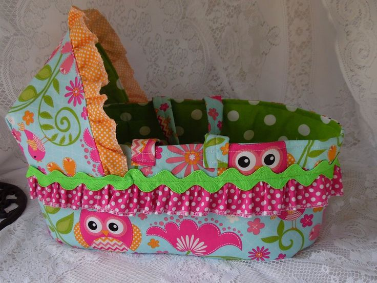Doll Bed Carrier for Bitty Baby and Similar Dolls, Custom Made Moses Basket Style Cloth Bassinet for Dolls, Your choice of fabric, Doll Bed by thatssewholly on Etsy https://www.etsy.com/listing/187756027/doll-bed-carrier-for-bitty-baby-and