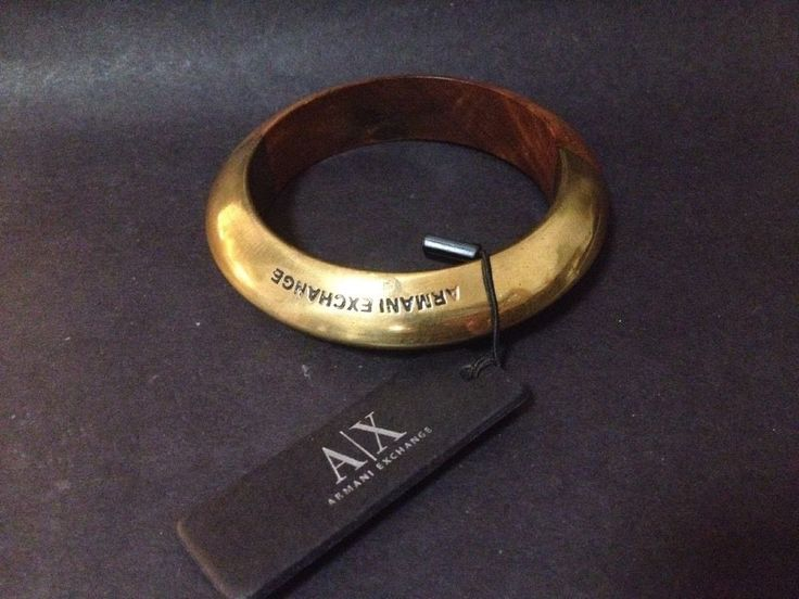 BNWT - Brass and Wood / Timber Bangle - Armani Exchange NEVER WORN W/ TAG
