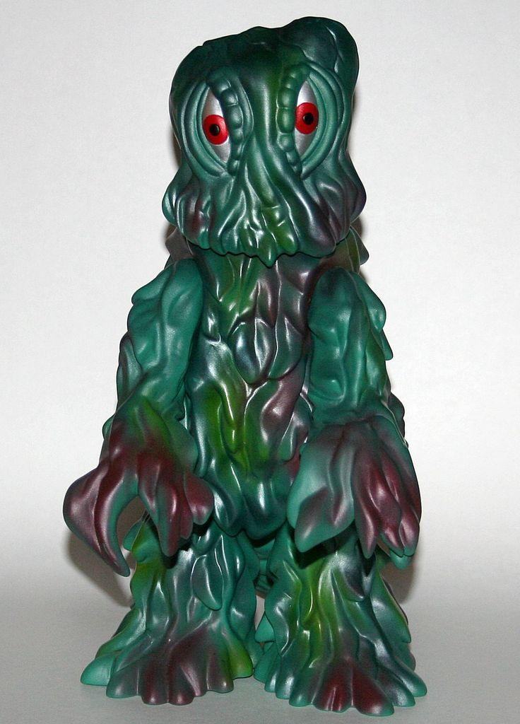 """Marmit Giant Light Green Hedorah.  Huge piece of Kaiju!  Stands an imposing 13"""" tall.  Classic Smog Monster action.   http://www.viciousfun.com/kaiju/marmit.html"""