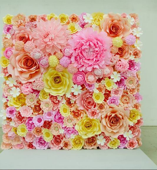 Flower Home Decor Flowers At Home Pinterest Wedding Paper Flower Backdrop And Mireasa
