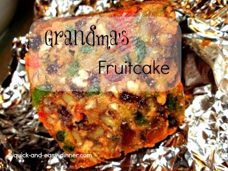 My grandma's fruitcake recipe is so good! Trust me when I say, if you don't like fruitcake, it's only because you haven't tasted Grandma's.
