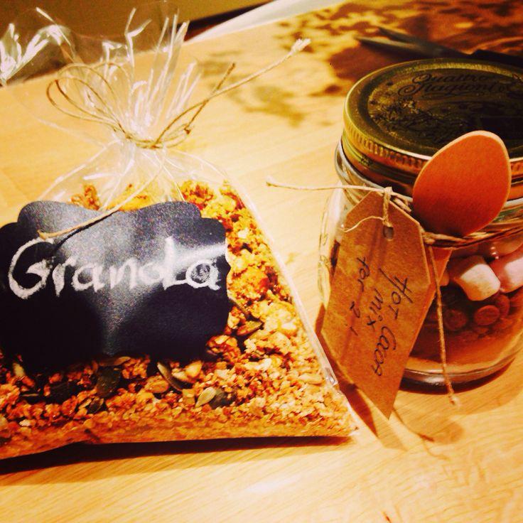 Granola and hot cocoa mix