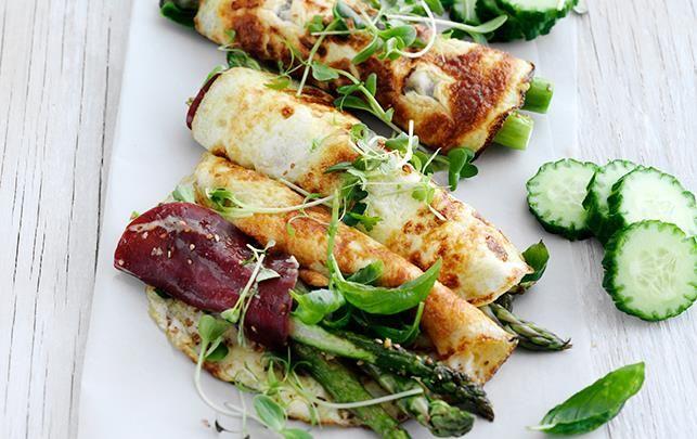 Æggewraps med asparges & bresaola
