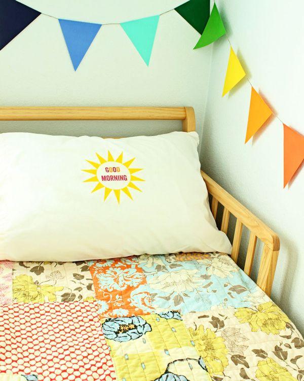 DIY Good Morning/Good Night Pillow Hellobee Handmade Home Decor Pinterest Nice, Quilt ...