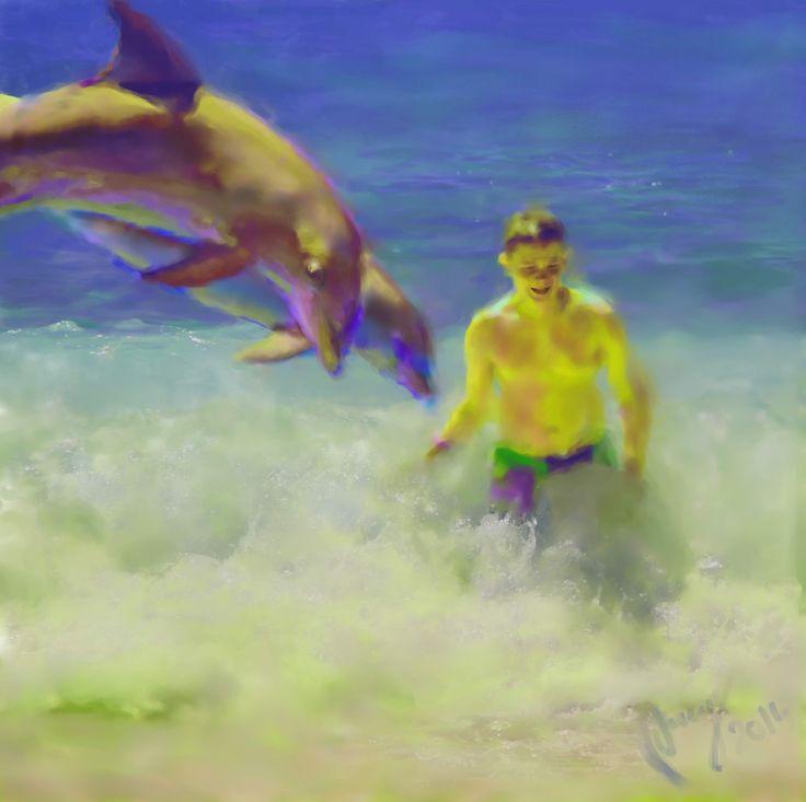 """""""Remember the sea"""",digital akryl, sept. 2014, EM Brækstad"""
