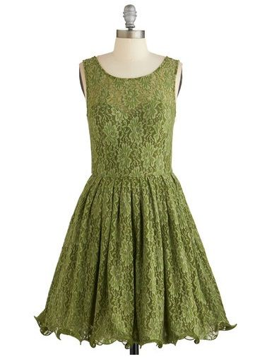 short lace olive green bridesmaid dress modcloth