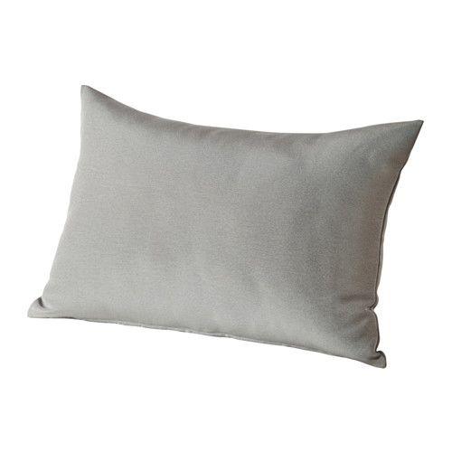 HÅLLÖ Back cushion, outdoor, grey 62x42 cm grey