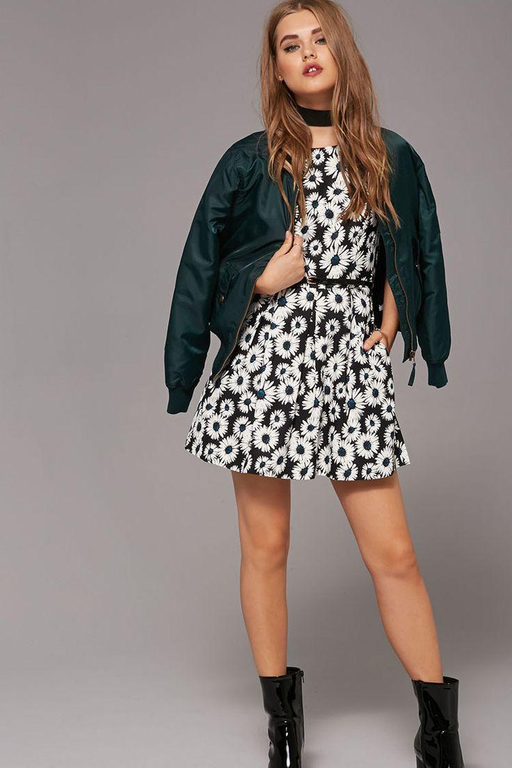 Daisy Print A-Line Dress