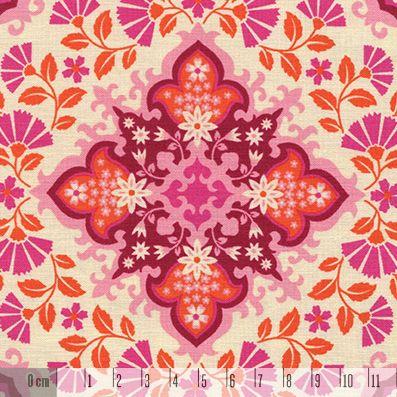 Tkanina NOTTING ORNAMENT pink orange 1034
