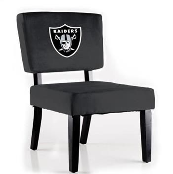 Oakland Raiders Accent Chair By NFL Furniture To Go With Arcade Game