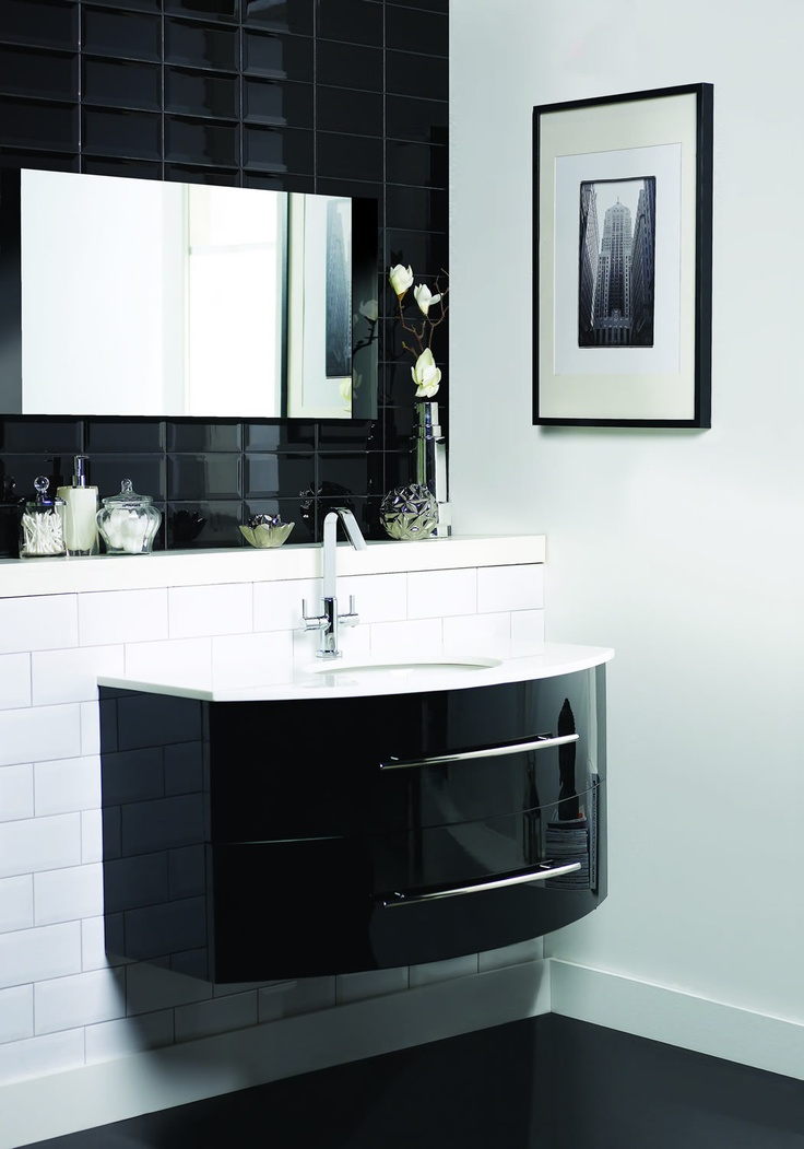 Black high-gloss bathroom.  http://www.worldstores.co.uk/p/Crescent_Black_and_White_High_Gloss_3_PC_Furniture_Pack.htm