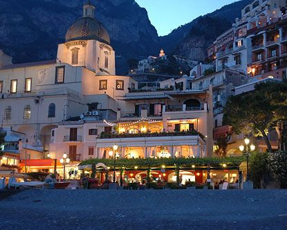 Positano, Italy. This is one of the hotels along the coast.