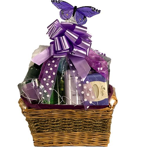 68 best gift baskets ideas images on pinterest gift basket ideas gift baskets for a woman lavender relaxing bath gift basket part negle Image collections