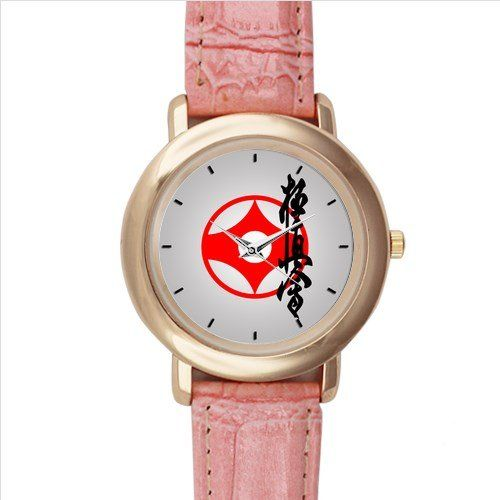 New Custom Shotokan Pink Leather Watch