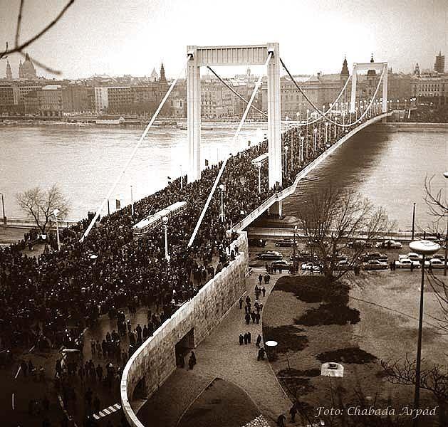 új erzésbet híd átadás, budapest