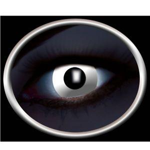 Hvide UV Kontaktlinser. Selvlysende linser til fester med uv lys. #uv #kontaktlinser