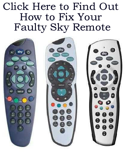 Has Your Sky TV Remote Has Gone Wrong? Try This Before Buying A New One! Click on the picture twice for details.