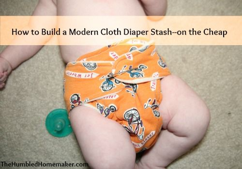 how to build a modern cloth diaper stash--on the cheap at thehumbledhomemaker.com