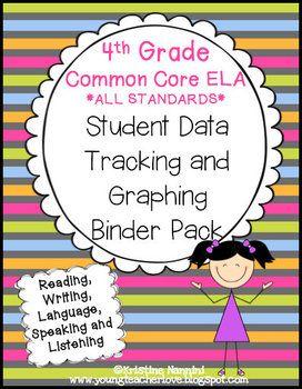 4th Grade Common Core: ELA/Literacy *ALL STANDARDS* {Student Data Binder Pack} - Miss Nannini - TeachersPayTeachers.com